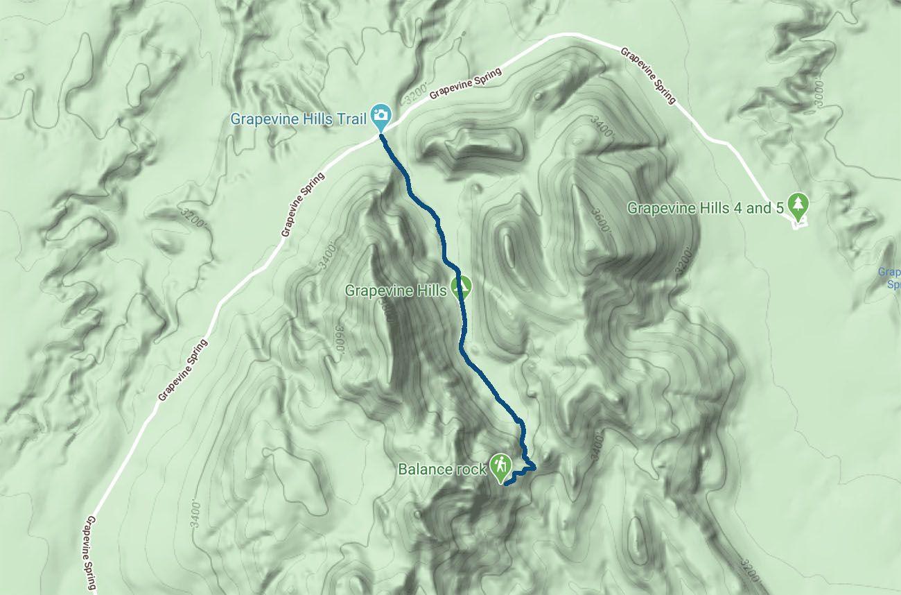 Balanced Rock Trail Map