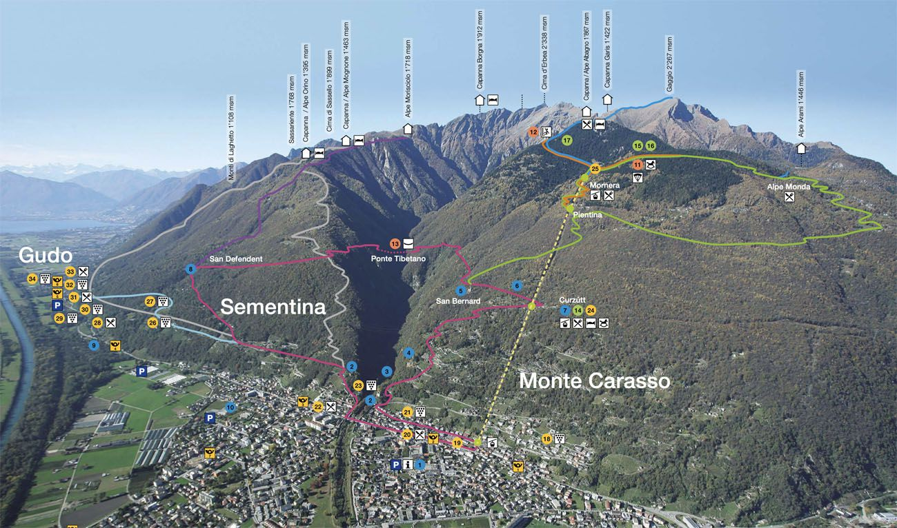Day Trips from Lugano Map of Bridge