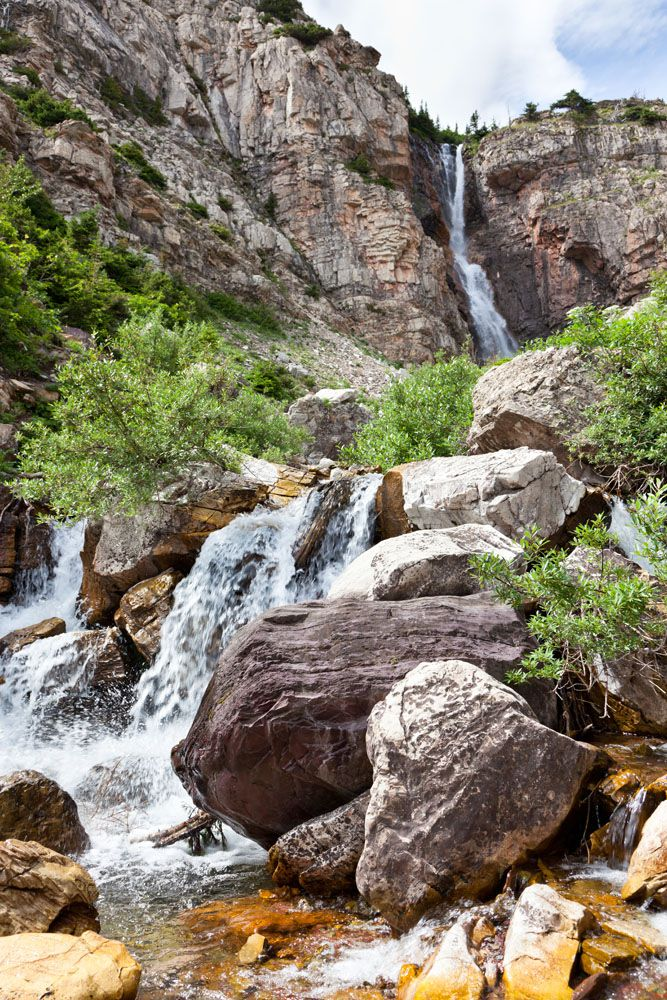 Apikuni Falls best hikes in Glacier National Park