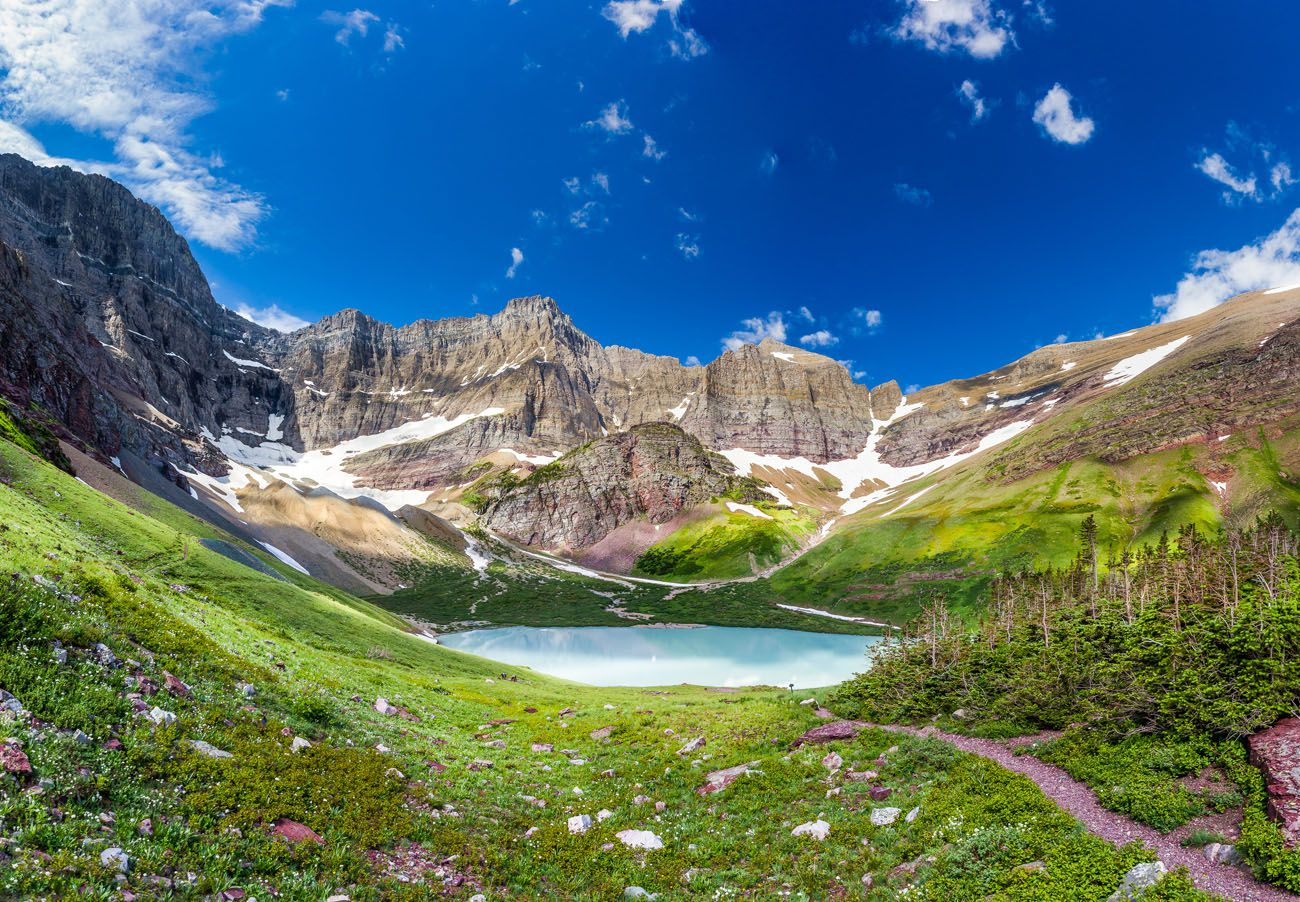 Glacier Cracker Lake best hikes in Glacier National Park