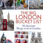 London Travel Bucket List