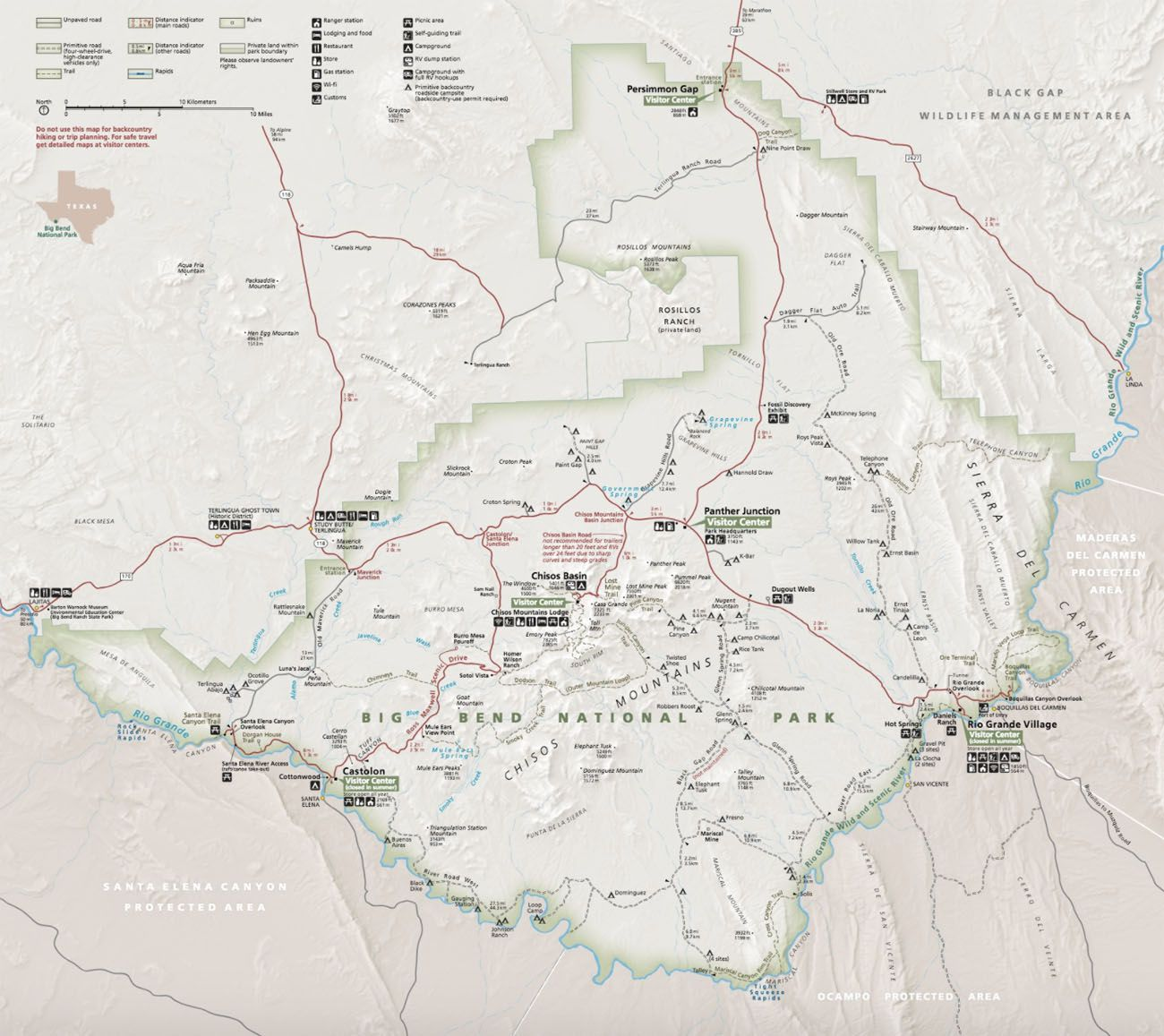 Map Big Bend NPS