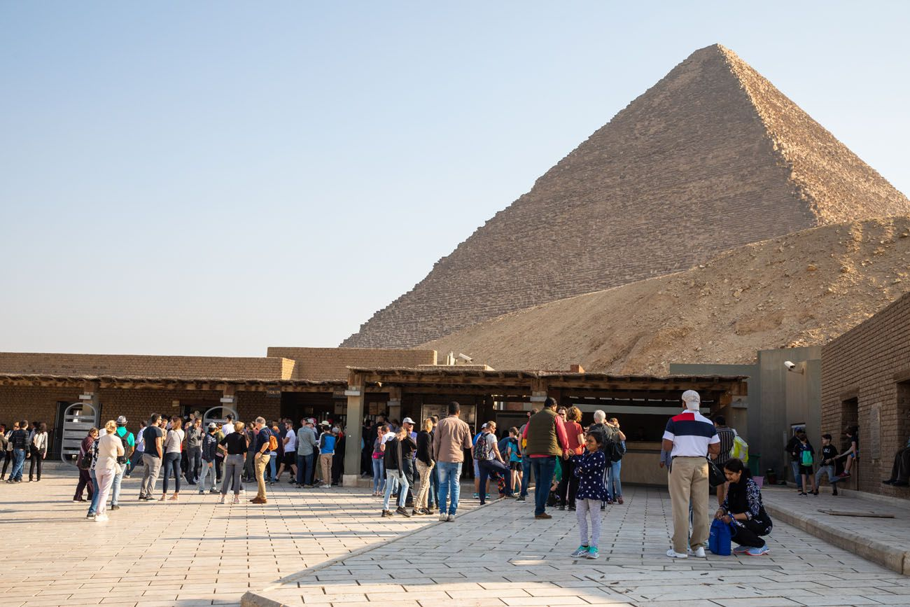 Pyramids of Giza Entrance