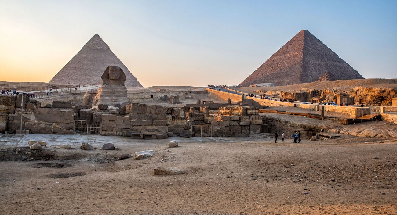 Pyramids of Giza Sunset