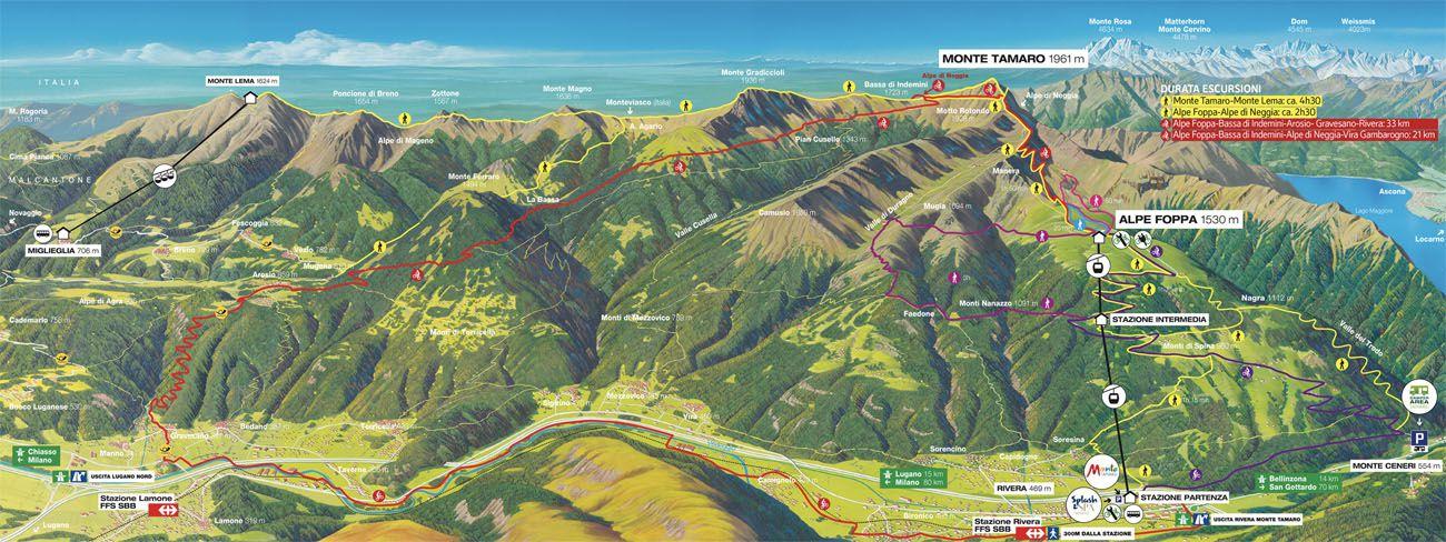 Swiss Map Lugano Day Trip Post