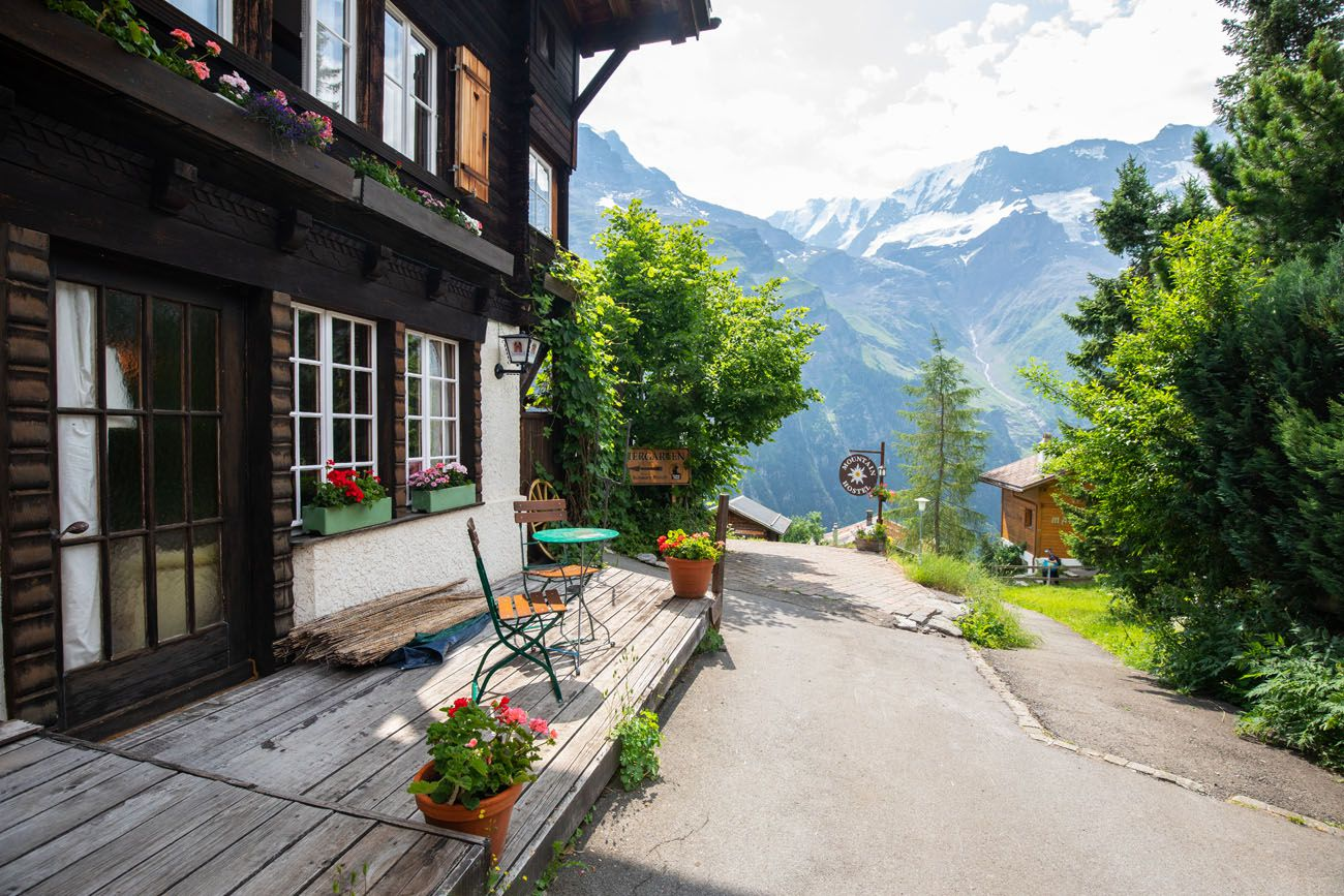 Gimmelwald where to stay in Jungfrau