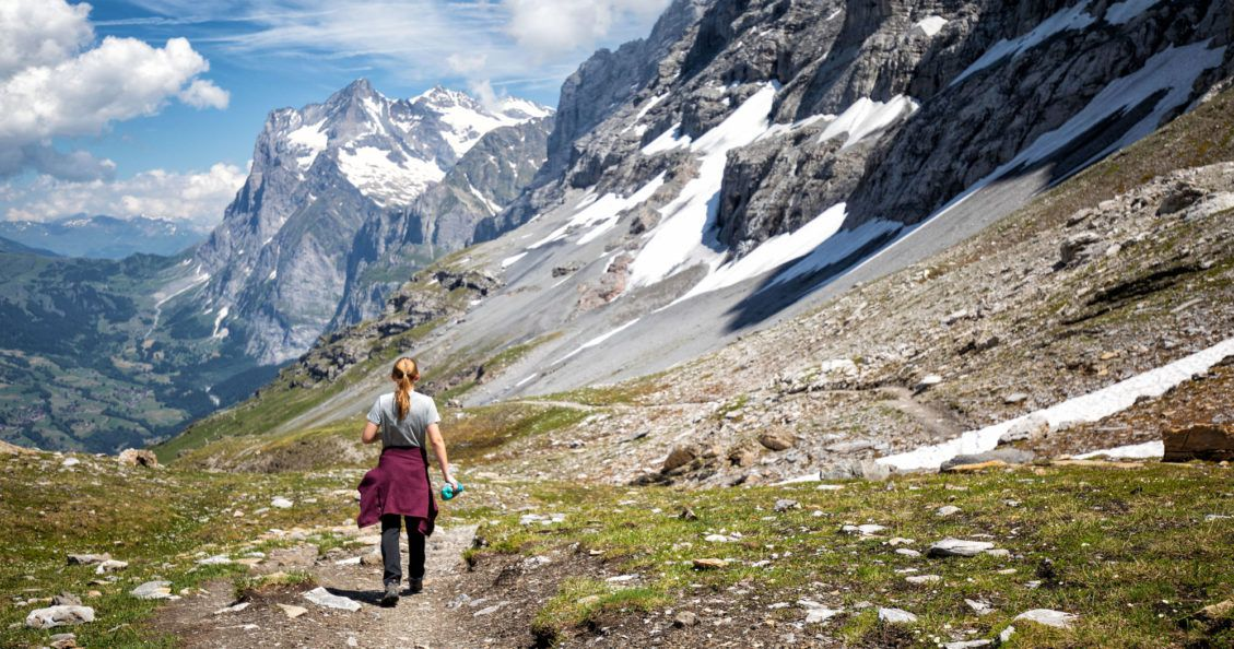 Kara on the Eiger Trail