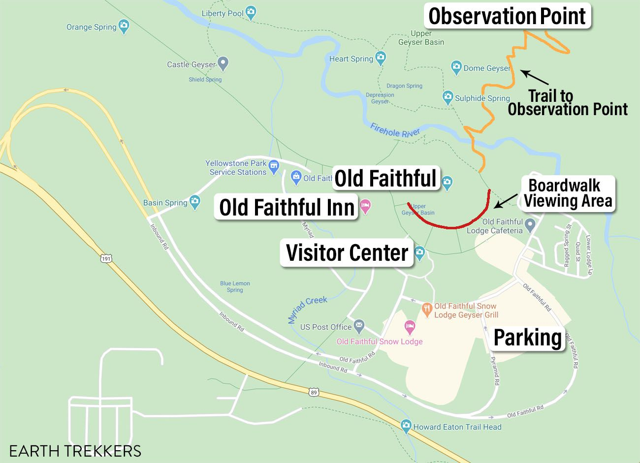 Map of Old Faithful