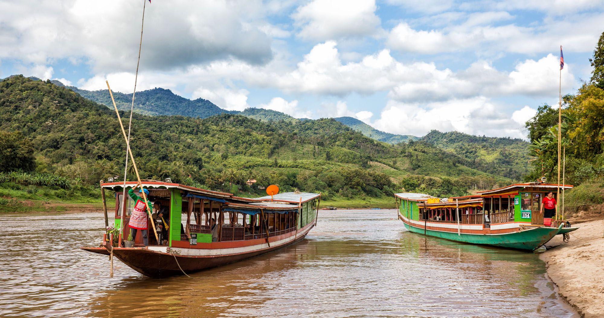 Mekong River Laos Slow Boat