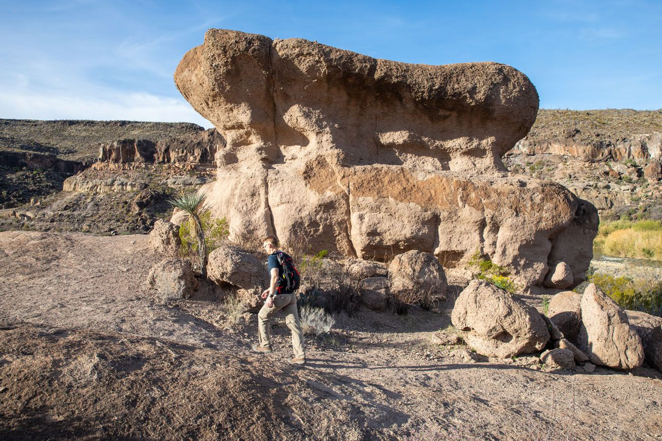 Tim Hiking Big Bend Ranch