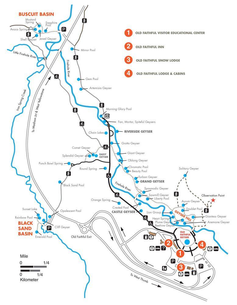 Upper Geyser Basin Map