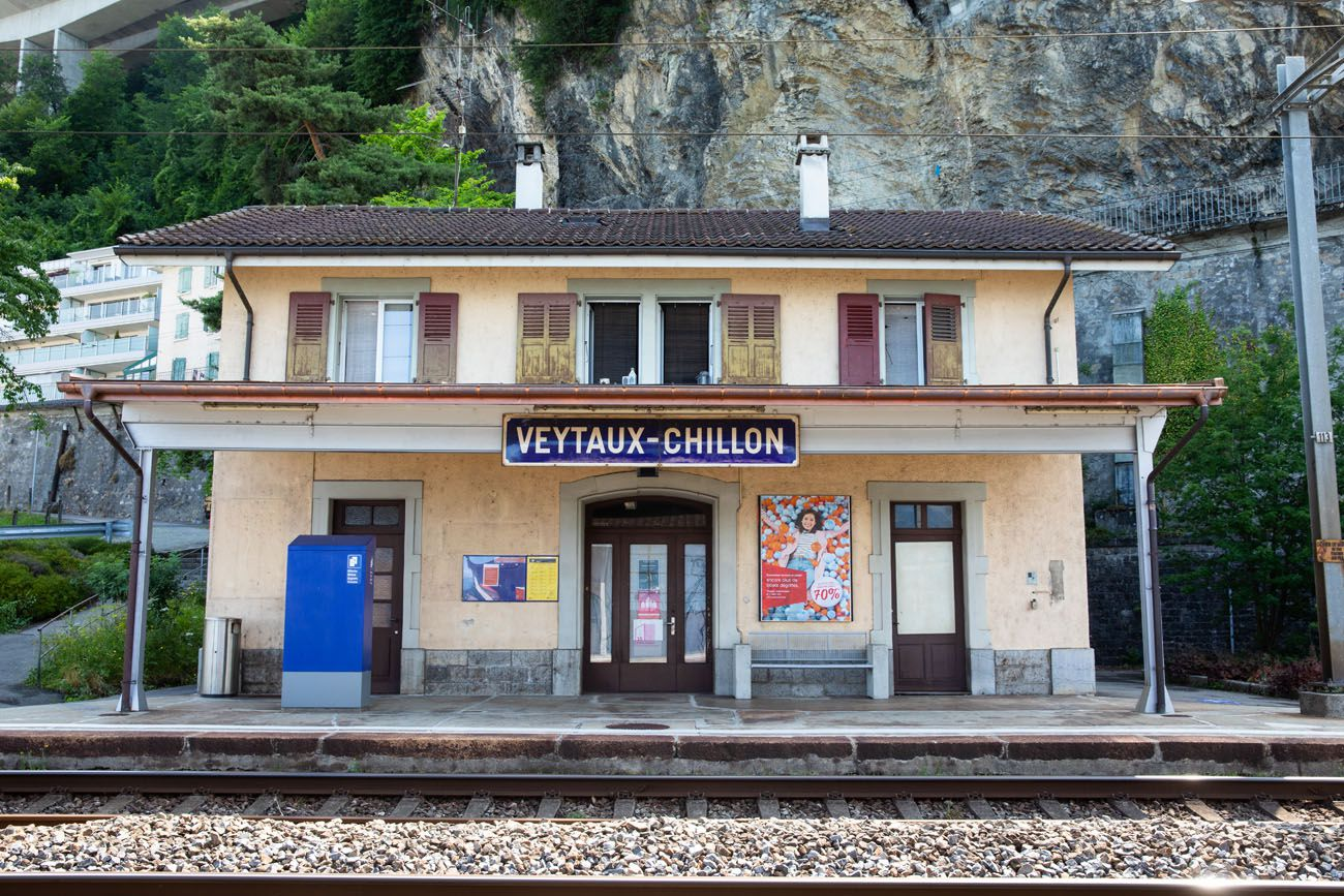 Veytaux Chillon Train Station
