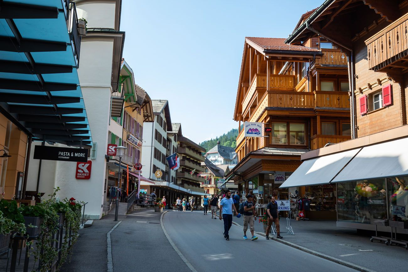 Wengen Street where to stay in Jungfrau