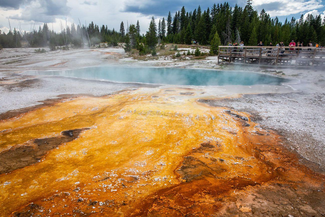 West Thumb geyser basins in Yellowstone