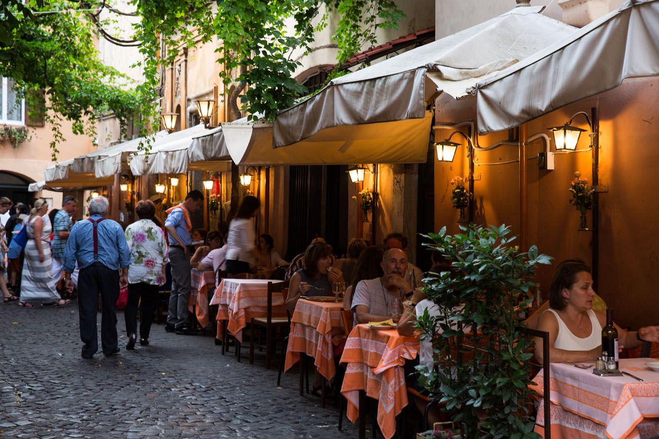 Dinner in Trastevere