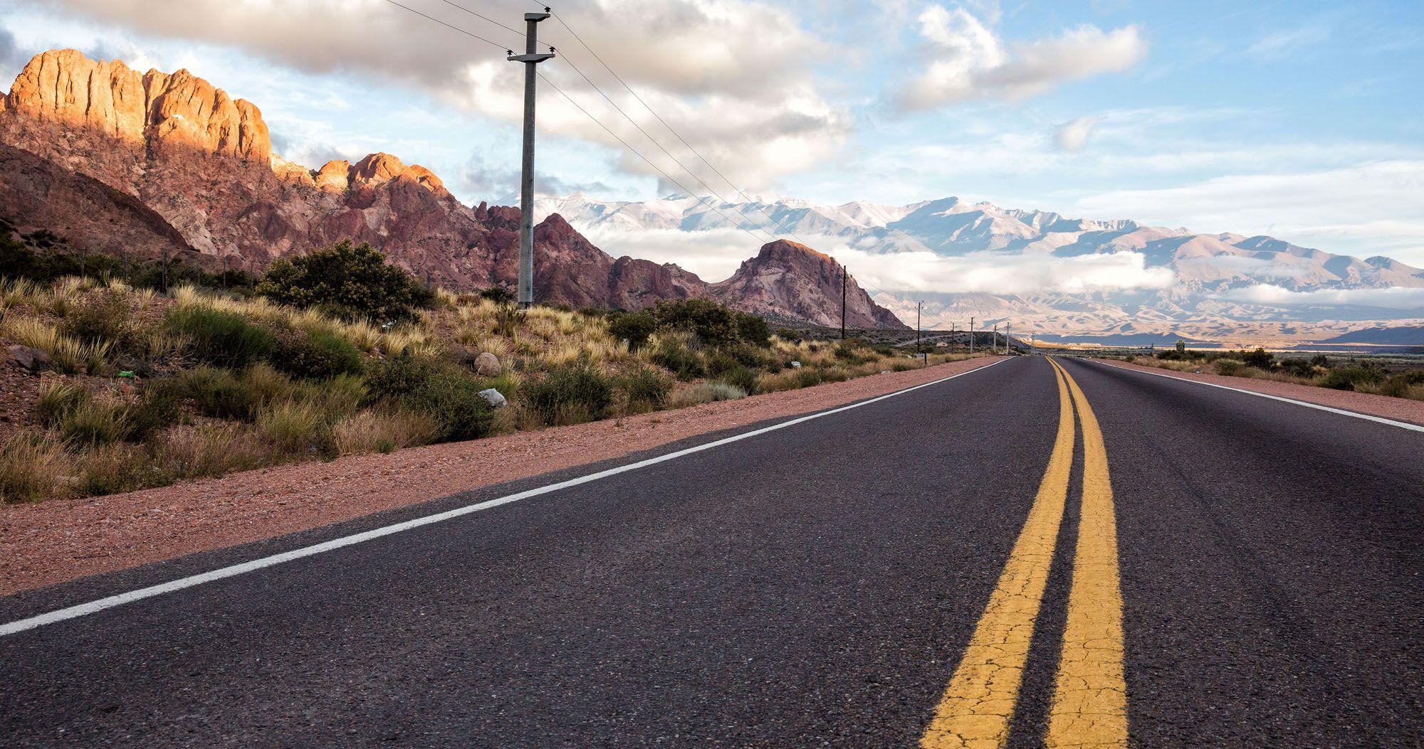 Driving Santiago to Mendoza
