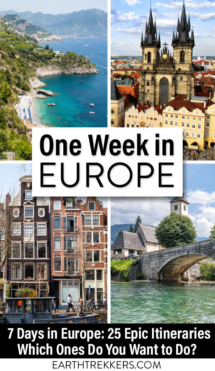 One Week in Europe