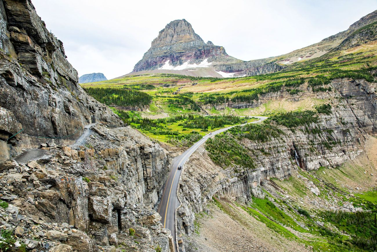 Logan Pass from Highline Trail