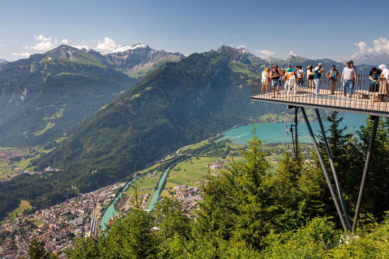 Overlooking Interlaken day trips from Lausanne