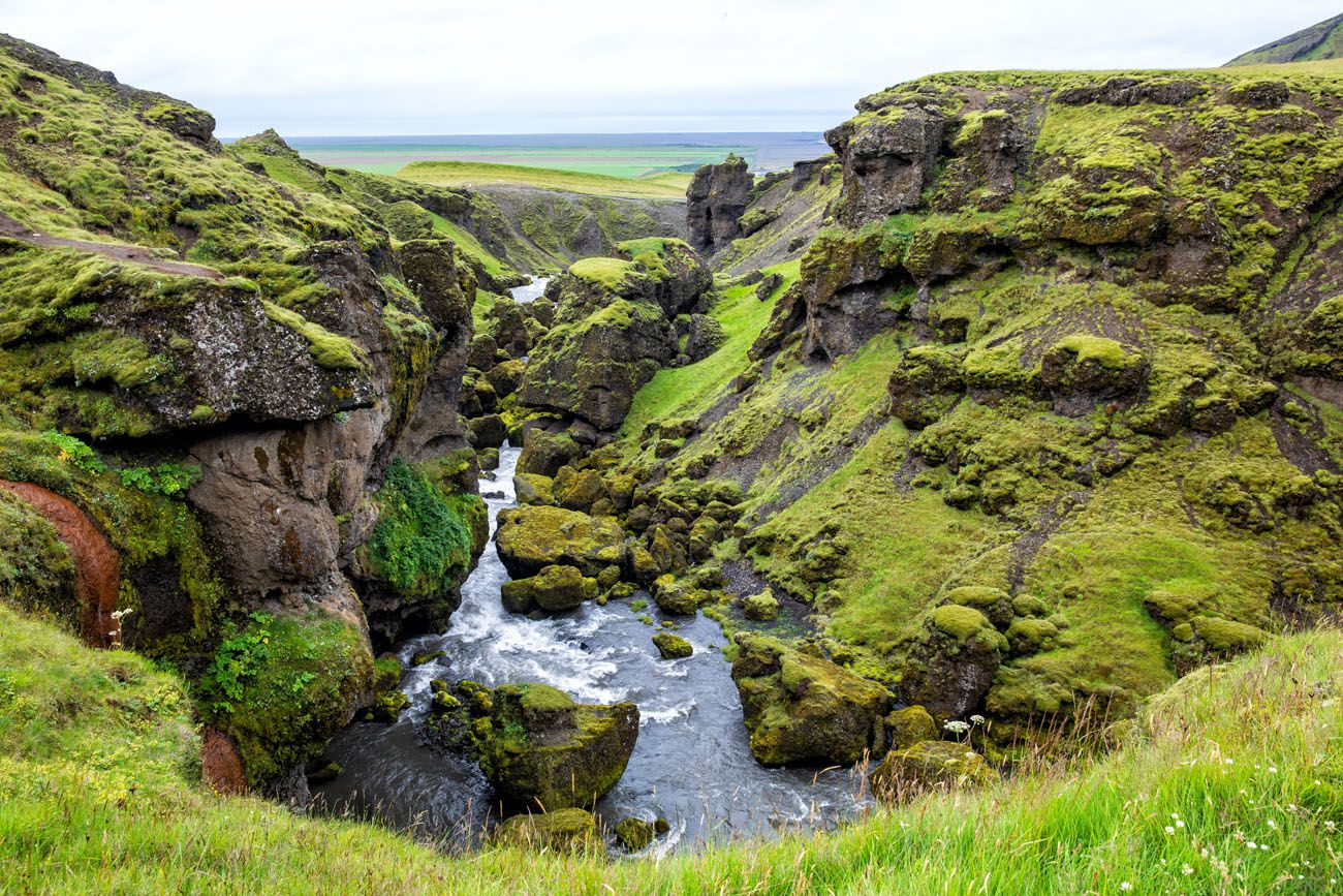 Skoga Canyon south coast of Iceland