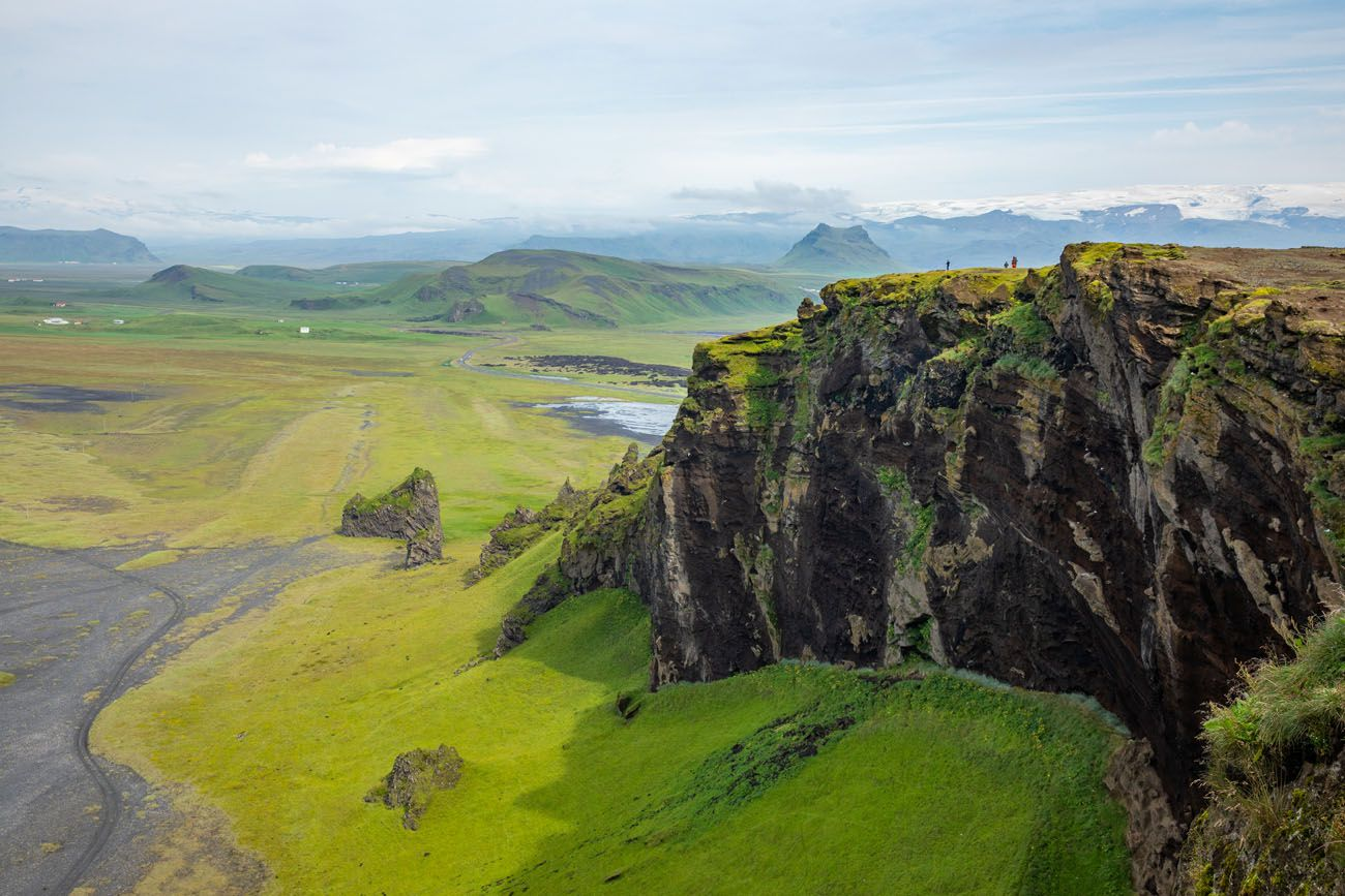 South coast of Iceland cliffs