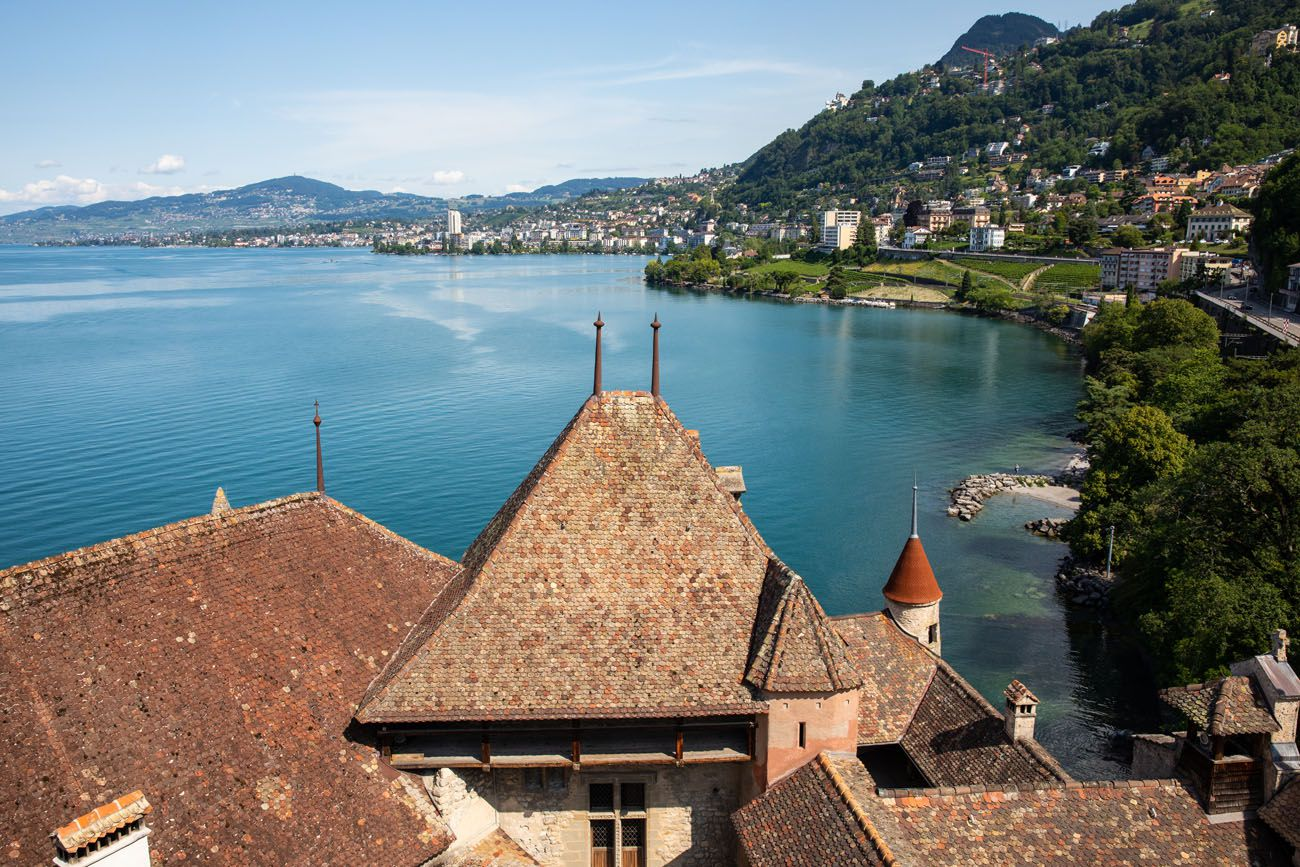 View from Chateau de Chillon