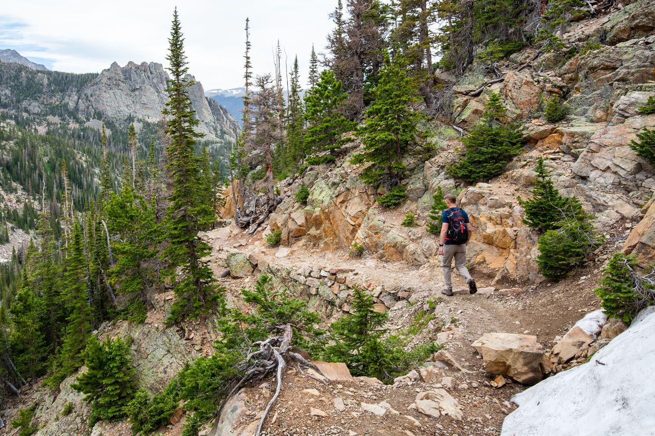 Trail after Lake Helene