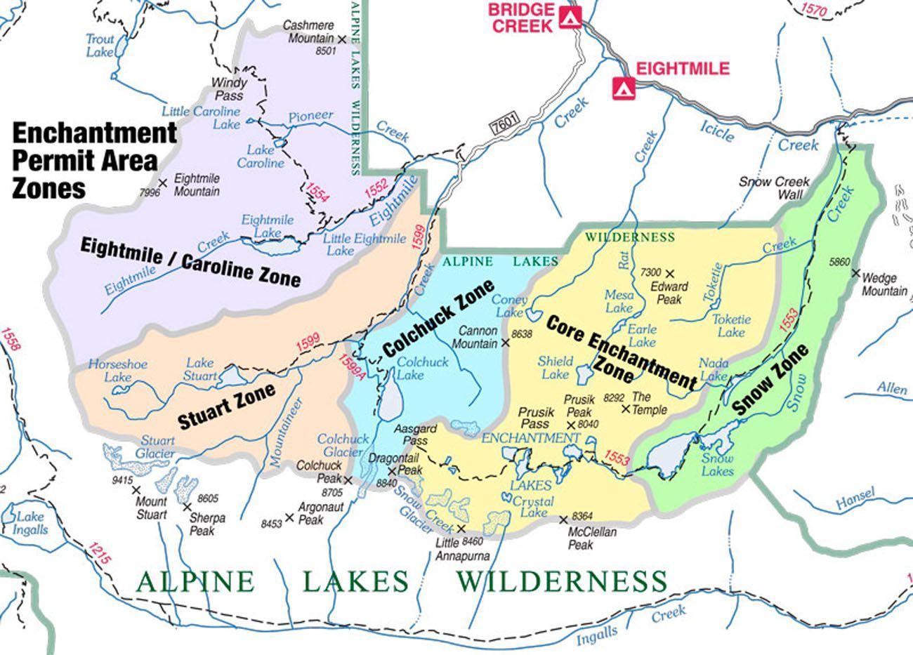 Alpine Lakes Map