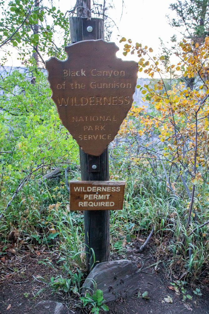 Black Canyon Wilderness Sign