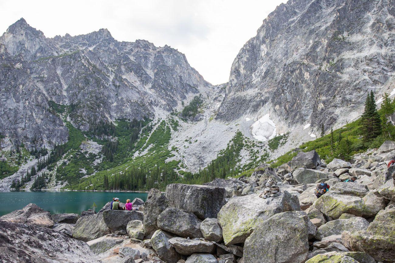 Boulders at Colchuck Lake