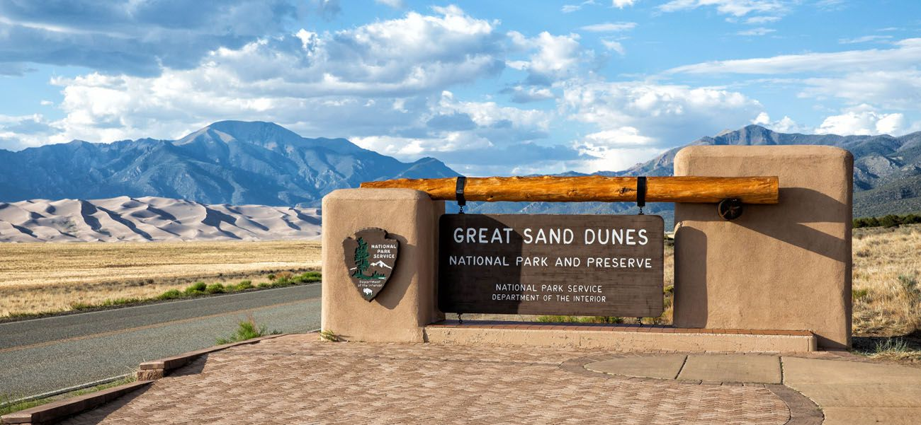 Great Sand Dunes Sign