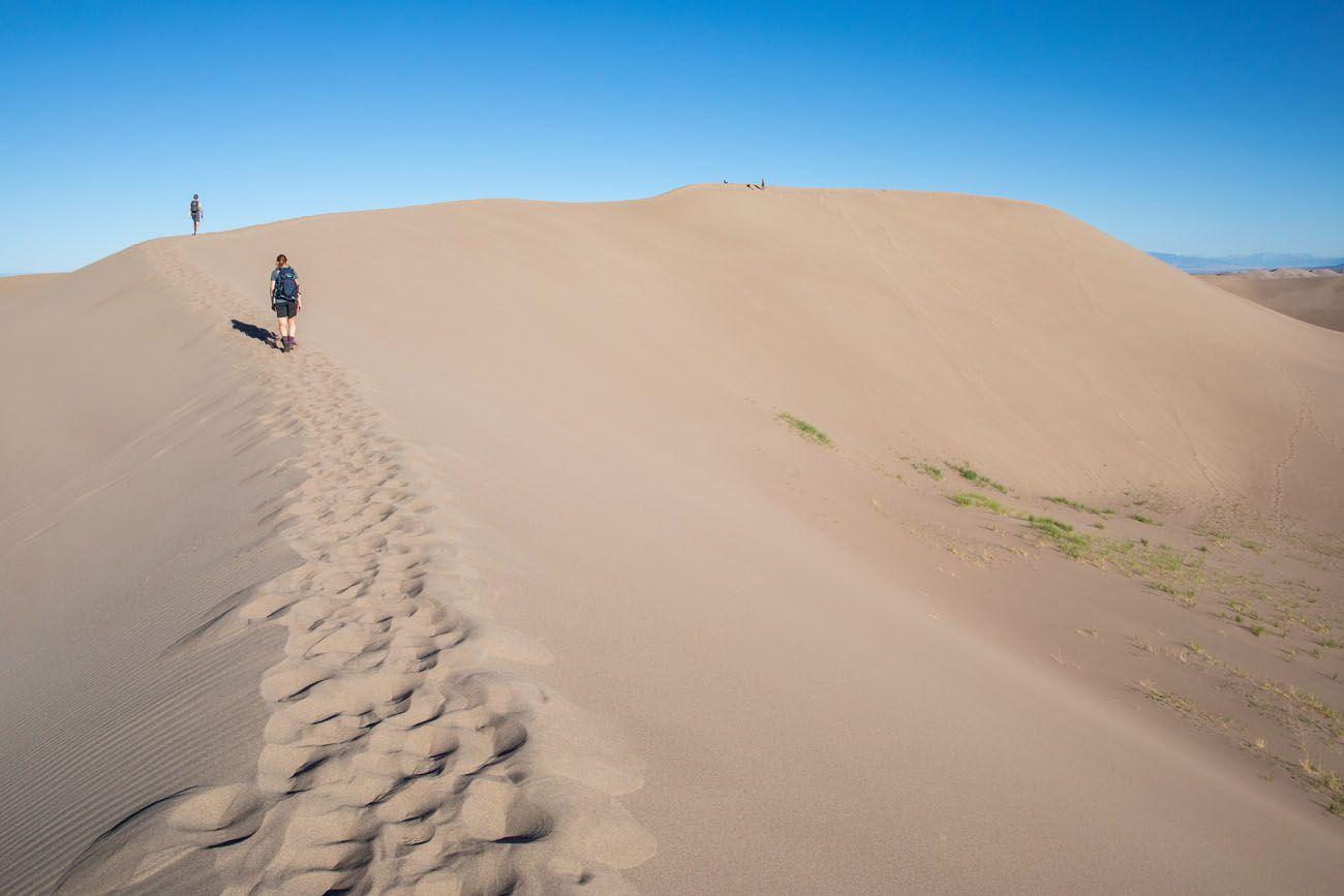 Hiking to High Dune