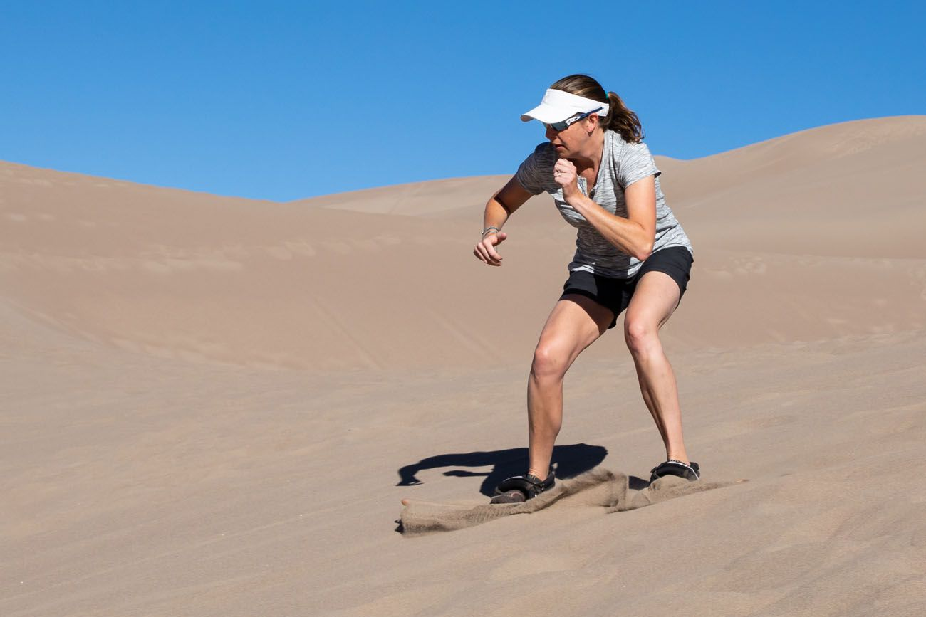 Julie Rivenbark Sandboarding