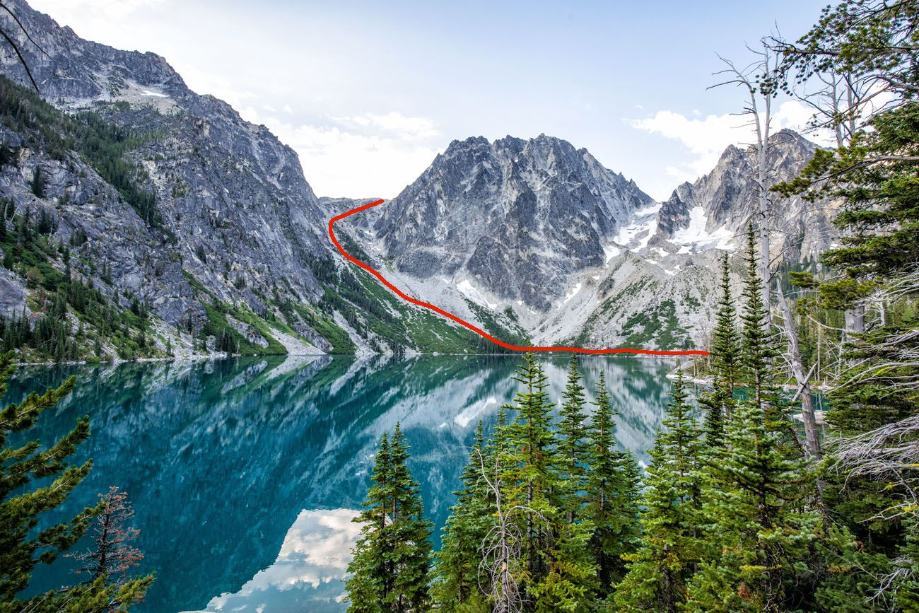 Route up Aasgard Pass Enchantments