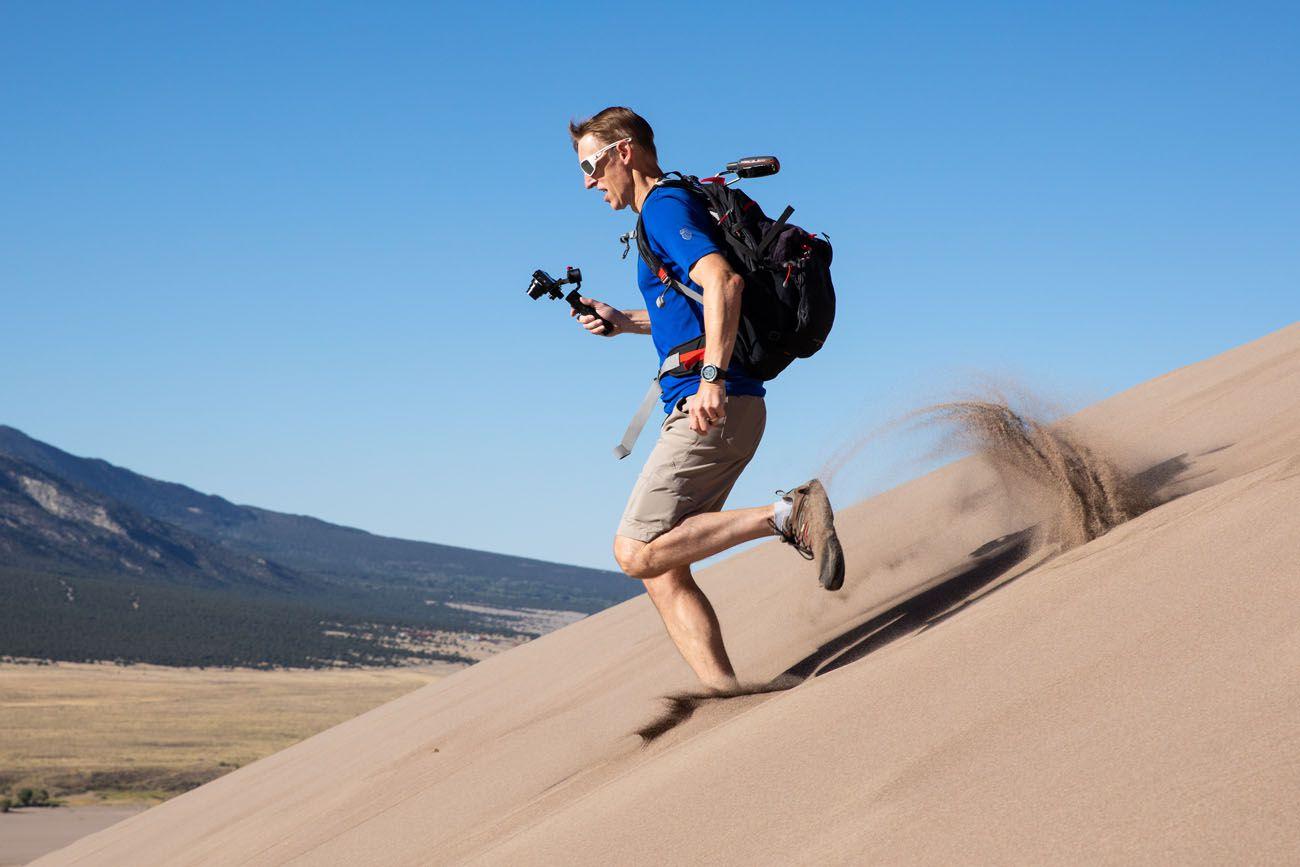 Tim Running the Dunes