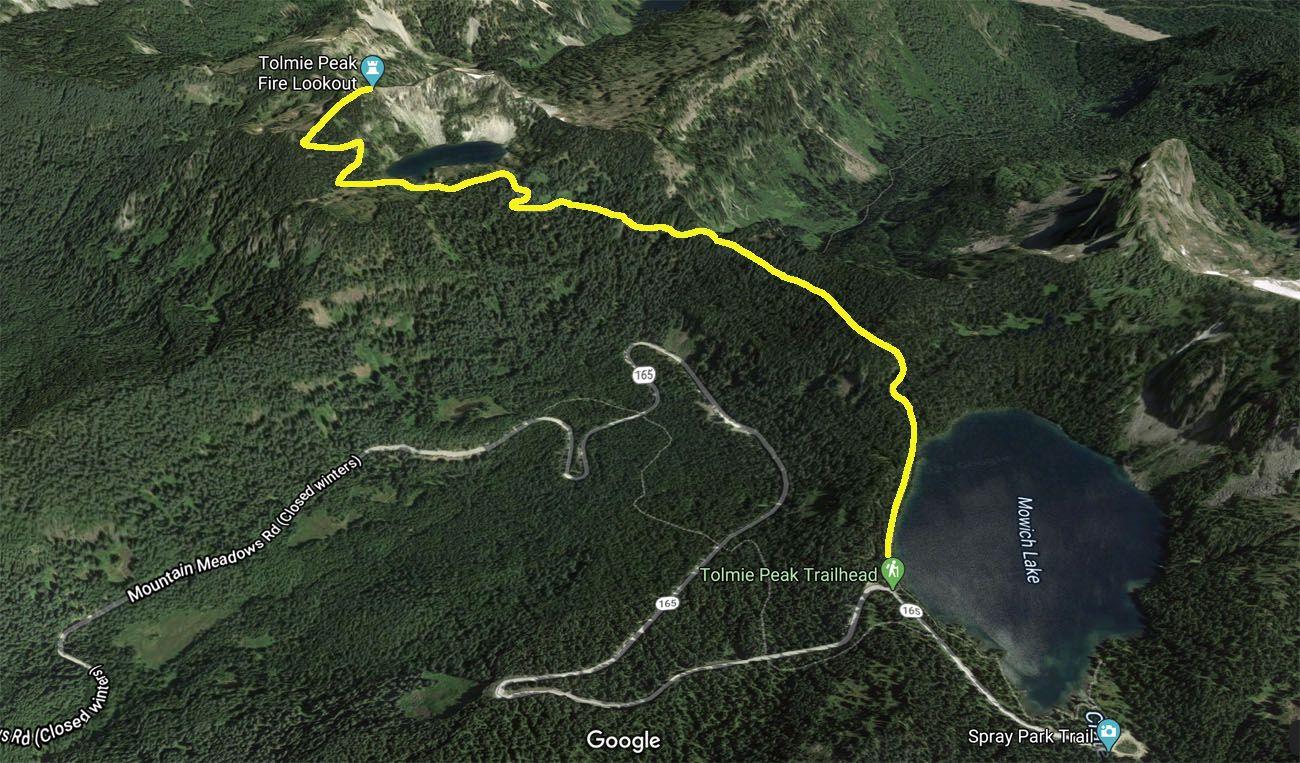 Tolmie Peak Lookout Map