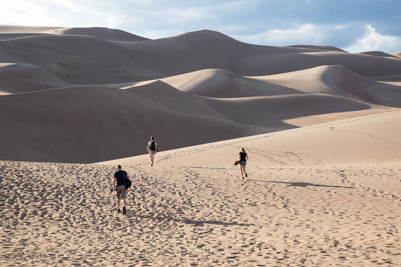 Walking to the Dunes Photo