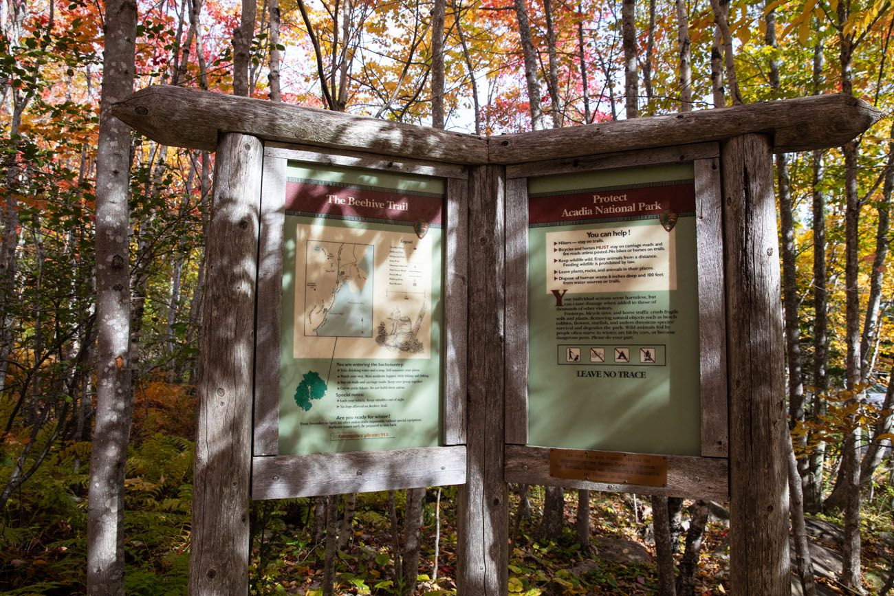 Beehive Trail Sign