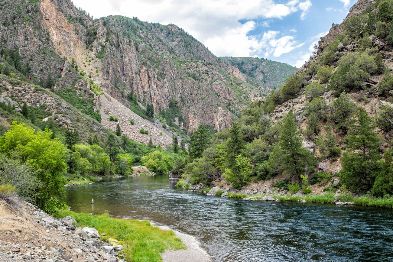 Fishing the Gunnison River South Rim of Black Canyon of the Gunnison