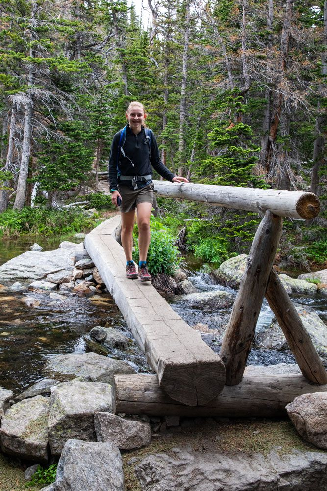 Kara on Log Bridge