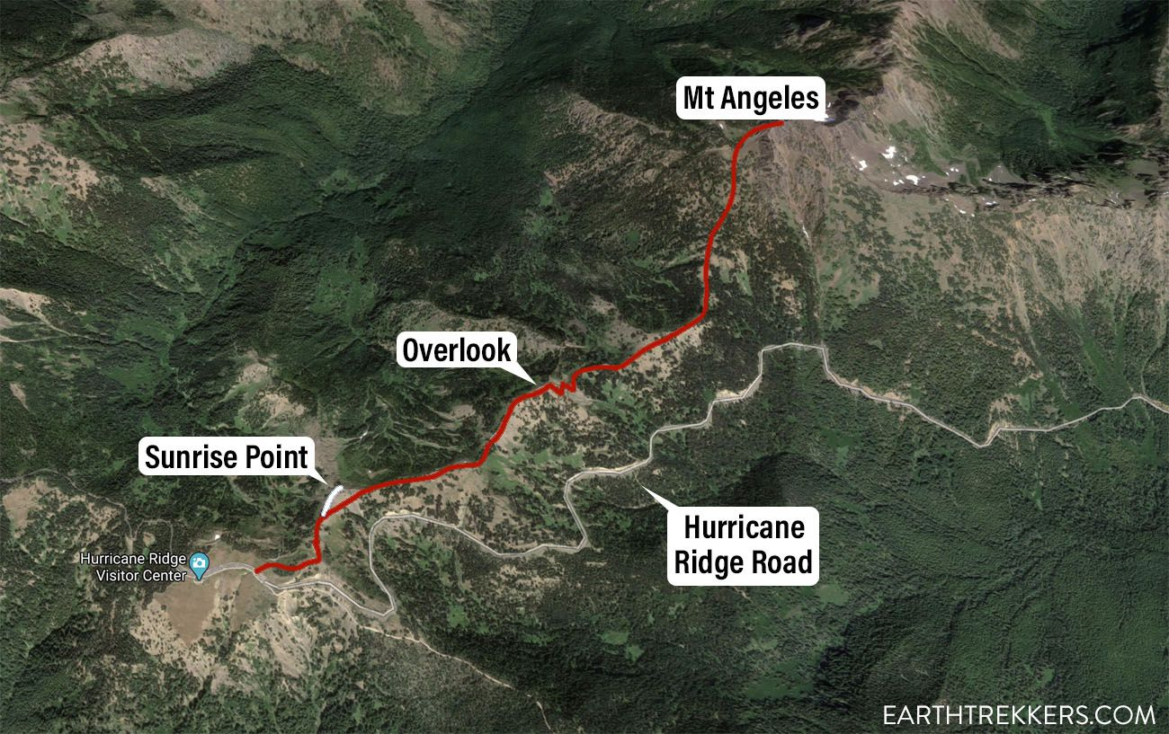 Mount Angeles Hike Map