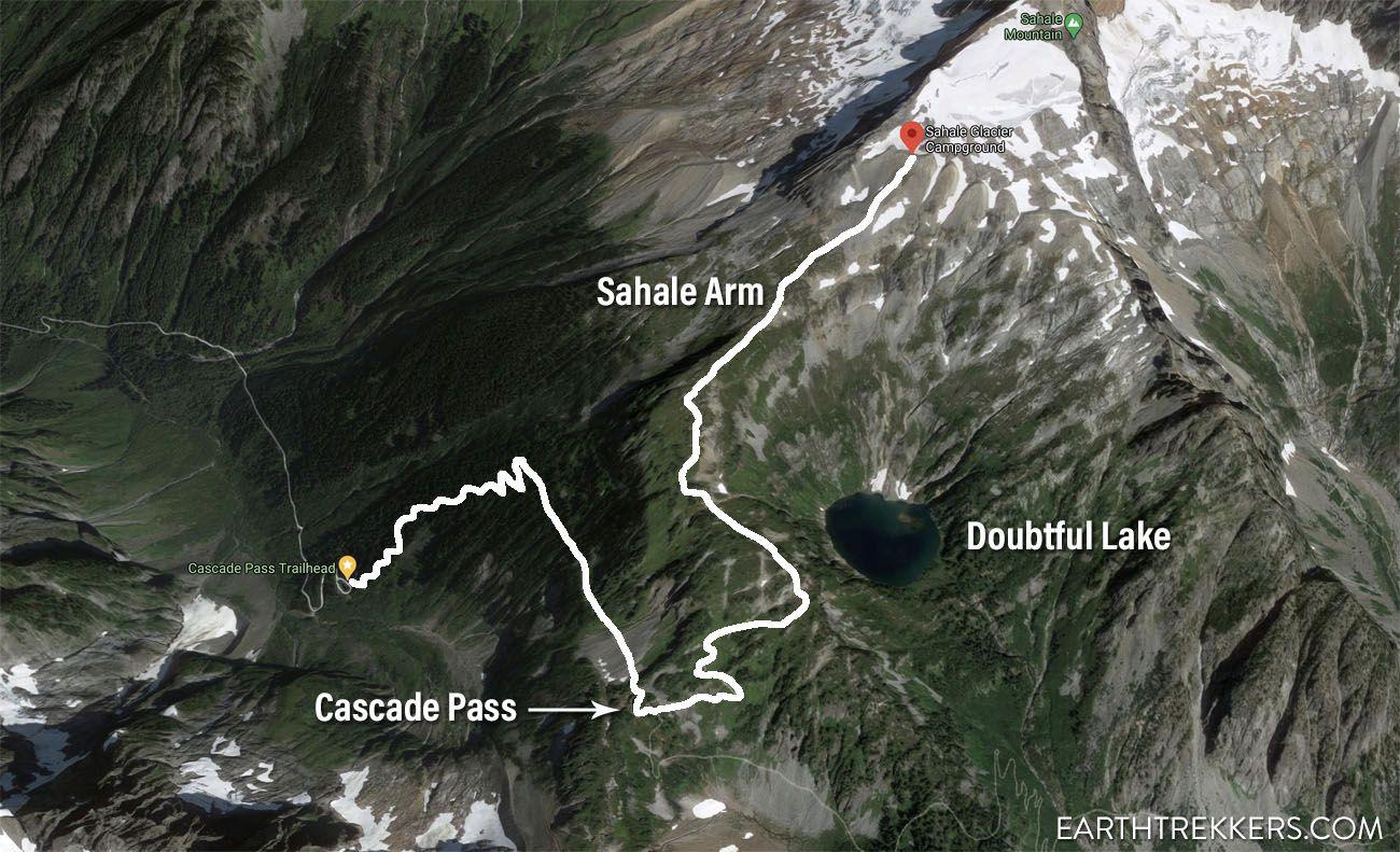 Sahale Arm Hike Map