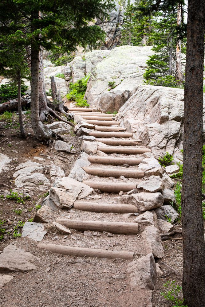 Stairs to Emerald Lake