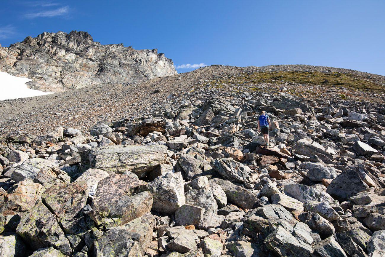 Trail to Sahale Glacier Camp