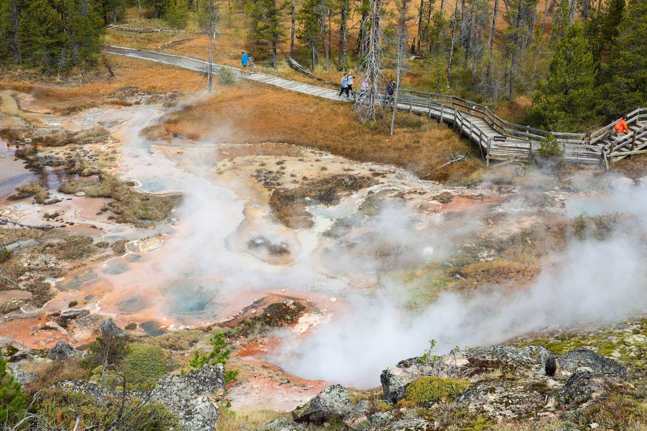 Artist Paint Pots Yellowstone