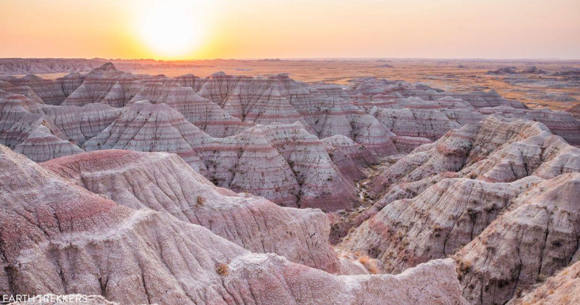 Badlands Sunrise Photo