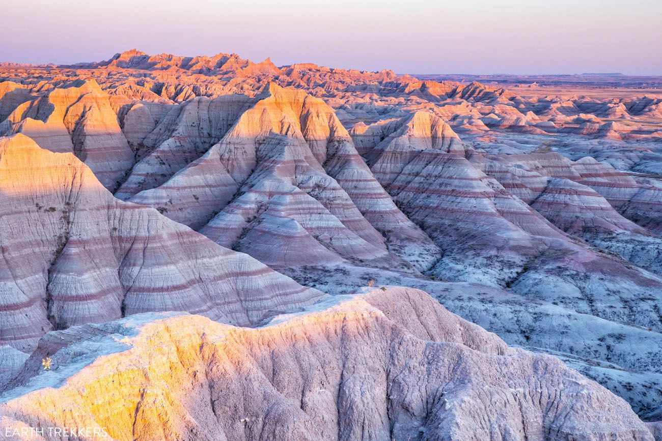 Badlands Sunset Panorama Point