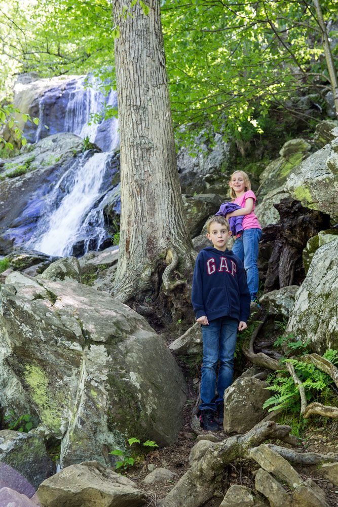 Dark Hollow Falls with Kids