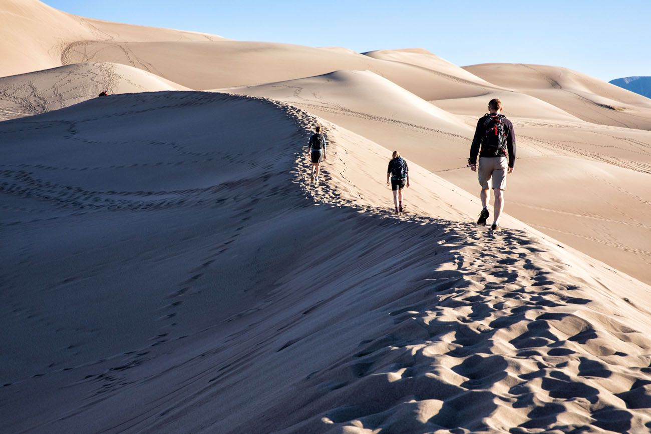Great Sand Dunes Hike hikes in the national parks