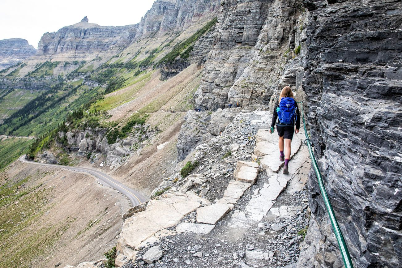 Highline Trail hikes in the national parks